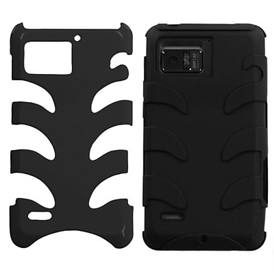 Insten® Protector Case For Motorola XT875 Droid Bionic; Natural Black Fishbone