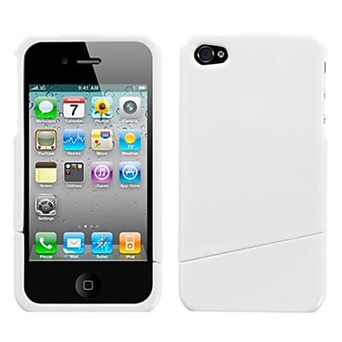 Insten Phone Protector Cover For iPhone 4/4S, Natural Ivory White Slash (1017024)
