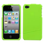 Insten® Phone Protector Cover F/iPhone 4/4S, Natural Pearl Green Slash