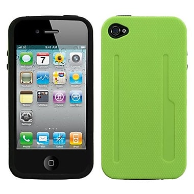 Insten Fusion Protector Cover For iPhone 4/4S, Natural Pearl Green/Black (1017058)
