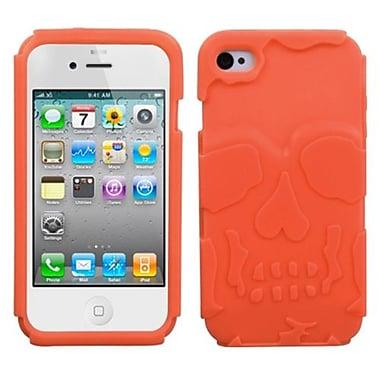Insten ? Étui protecteur hybride pour iPhone 4/4s, tête de mort orange (1017097)