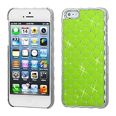 Insten® Back Protector Cover W/Diamonds For iPhone 5/5S, Pearl Green