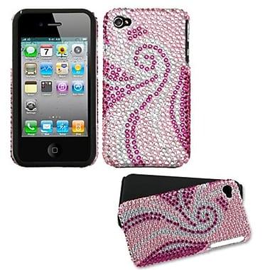 Insten Diamante Fusion Faceplate Case For iPhone 4/4S, Phoenix Tail (1017134)