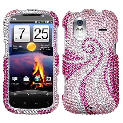 Insten® Diamante Protector Case For HTC Amaze 4G, Phoenix Tail