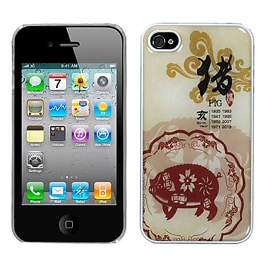Insten® Chinese Zodiac Collection Dream Back Protector Cover F/iPhone 4/4S, Pig