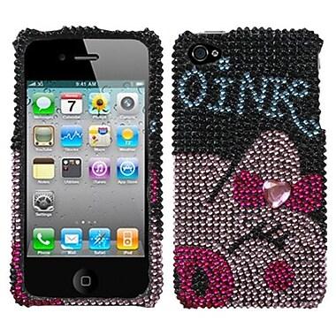 Insten® Diamante Protector Cover F/iPhone 4/4S, Piggy Power