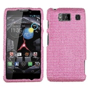 Insten® Diamante Protector Case For Motorola XT926W Droid RAZR HD, Pink