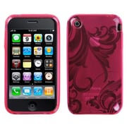 Insten® Argyle Candy Skin Cover F/iPhone 3G/3GS; Pink Morning Glory