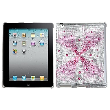 Insten® Diamante SmartSlim Back Protector Cover For iPad 2/3/4, Pink Singularity Gem Gradients