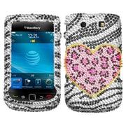 Insten® Diamante Faceplate Case For BlackBerry 9800, Playful Leopard