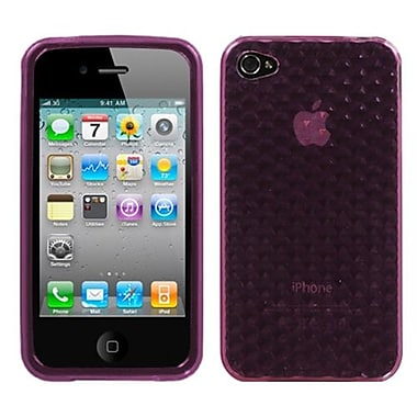 Insten® Argyle Candy Skin Cover F/iPhone 4/4S, Purple Cube