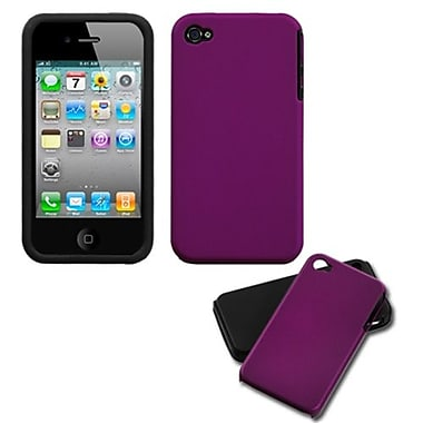 Insten Fusion Rubberized Faceplate Case For iPhone 4/4S, Purple (1017464)