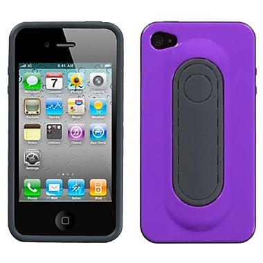 Insten® Protector Cover W/Snap Tail Stand F/iPhone 4/4S, Purple