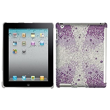 Insten® Diamante SmartSlim Back Protector Cover For iPad 2/3/4, Purple Starburst Gem Gradients