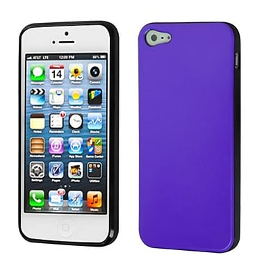 Insten Argyle Candy Skin Cover For iPhone 5/5S, Purple/Black (1017508)