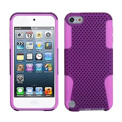 Insten® Astronoot Phone Protector Cover For iPod Touch 5th Gen, Purple/Electric Pink