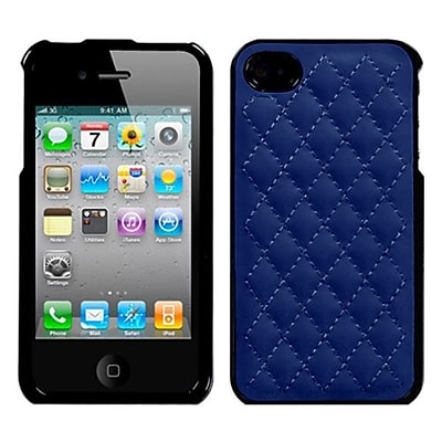 Insten® Executive Protector Cover F/iPhone 4/4S; Quilted Dark Blue