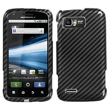 Insten® Protector Case For Motorola MB865 Atrix 2, Racing Fiber 2D Silver