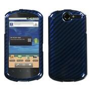 Insten® Phone Protector Case For Huawei U8800 Impulse 4G, Racing Fiber/Blue/2D Silver