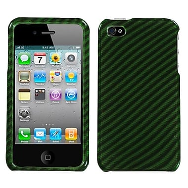 Insten Phone Protector Cover For iPhone 4/4S, Racing Fiber/Dr Green (1017554)