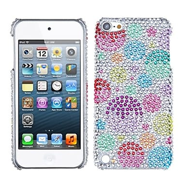 Insten Diamante Phone Back Protector Cover For iPod Touch 5th Gen, Rainbow Bigger Bubbles (1017558)