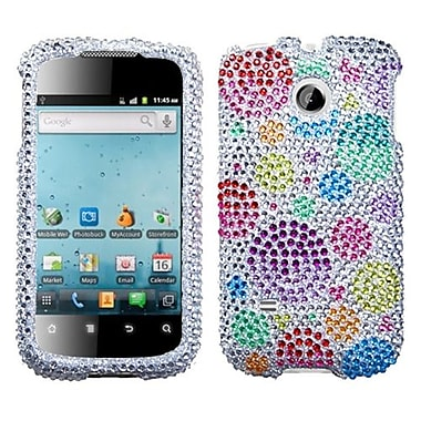 Insten Diamante Phone Protector Case For Huawei M865 Ascend II, Rainbow Bigger Bubbles (1017560)
