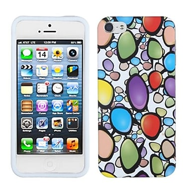 Insten® Skin Cover F/iPhone 5/5S, Rainbow Gemstones
