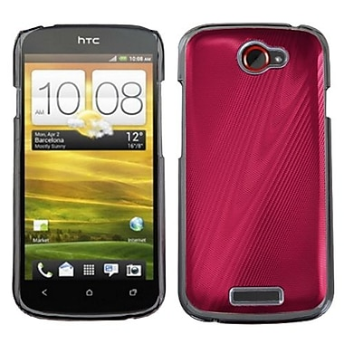 Insten® Back Protector Case For HTC-One S, Red Cosmo