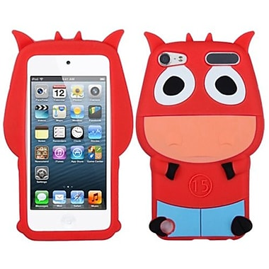 Insten® Cow Pastel Skin Cover For iPod Touch 5th Gen, Red