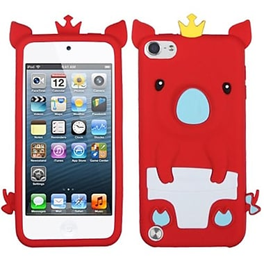 Insten Silicone Skin Soft Phone Cover For iPod Touch 5th Gen, Red Piggie (1017629)