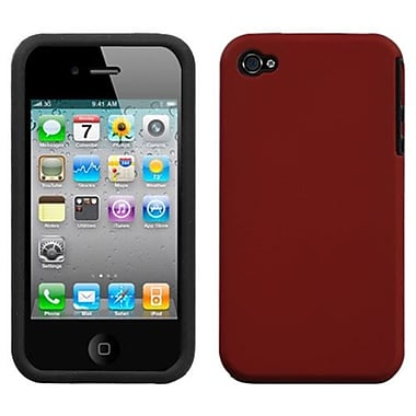 Insten Fusion Rubberized Faceplate Case For iPhone 4/4S, Red (1017636)