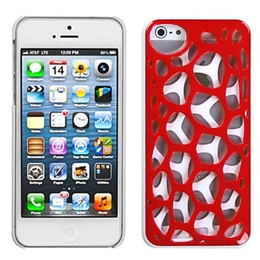 Insten® Synapse Cover F/iPhone 5/5S, Red/White