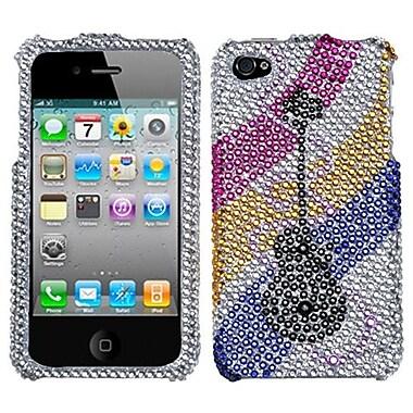 Insten® Diamante Protector Cover F/iPhone 4/4S, Ribboned Guitar