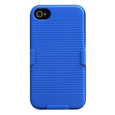 Insten® Hybrid Rubberized Holster F/iPhone 4/4S, Blue