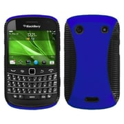 Insten® Phone Protector Cover For BlackBerry 9900/9930, Dark Blue/Black Mixy