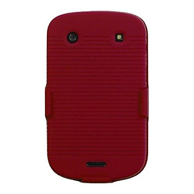Insten® Rubberized Hybrid Holster For BlackBerry 9930/9900, Red