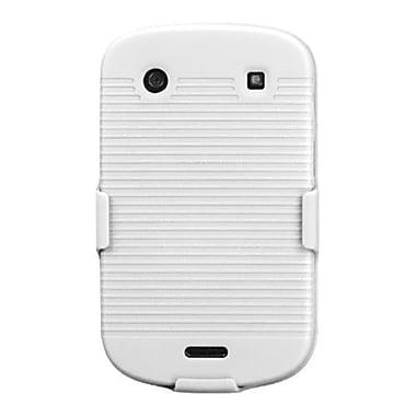 Insten ? Étui de ceinture hybride en caoutchouc pour les téléphones 9930/9900 de BlackBerry, blanc ivoire uni (1017801)