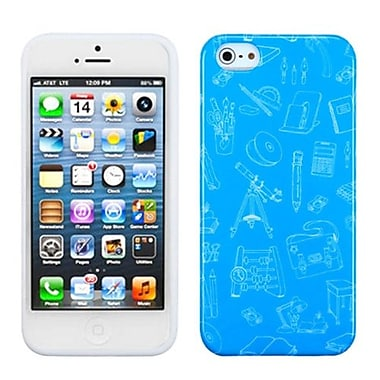 Insten Argyle Candy Skin Cover For iPhone 5/5S, School Life/Blue (1017823)