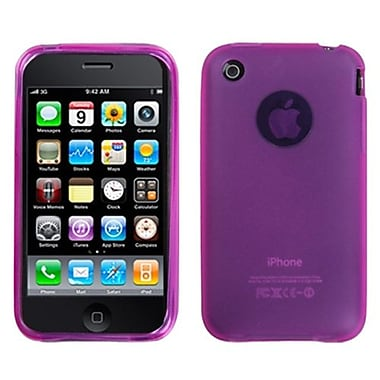 Insten® Rubberized Candy Skin Cover For iPhone 3G/3GS, Semi Transparent Hot-Pink