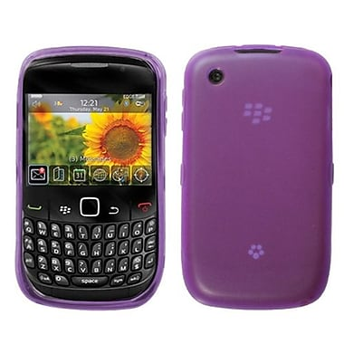 Insten® Candy Skin Cover For RIM BlackBerry 8520/8530, Semi Transparent Purple