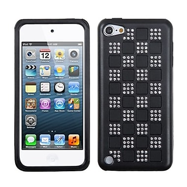 Insten Diamante Duple Protector Cover For iPod Touch 5th Gen, Silver Checker/Black/Black (1018046)