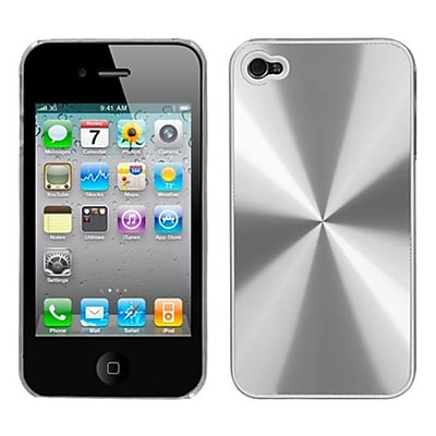 Insten® Cosmo Back Protector Cover F/iPhone 4/4S, Silver