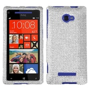 Insten® Diamante Protector Case For HTC Windows Phone 8X, Silver