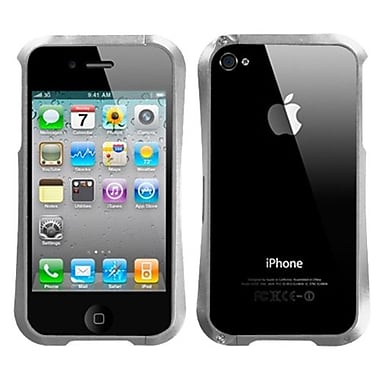 Insten® Chrome Coating Metal Surround Shield Protector Cover F/iPhone 4/4S, Silver Nitro