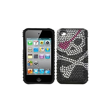 Insten Fusion Faceplate Case For iPod Touch 4th Gen, Skull Diamante (1018160)