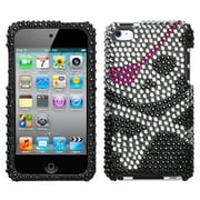 Insten® Diamante Cover For iPod Touch 4th Gen, Skull