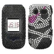 Insten® Diamante Protector Cover For Pantech P2030 Breeze III; Skull
