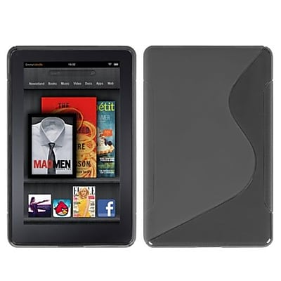 Insten® Candy Skin Cover For Kindle Fire, Smoke S-Shape (1018264)