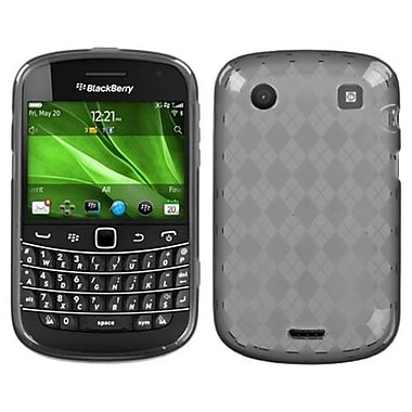 Insten® Argyle Candy Skin Cover For RIM BlackBerry 9930/9900, Smoke
