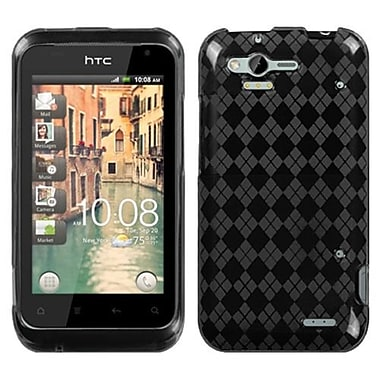 Insten® Argyle Candy Skin Cover For HTC ADR6330 Rhyme, Smoke Pane